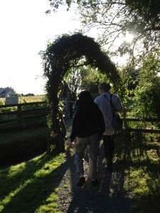 Entering Brigid's Well